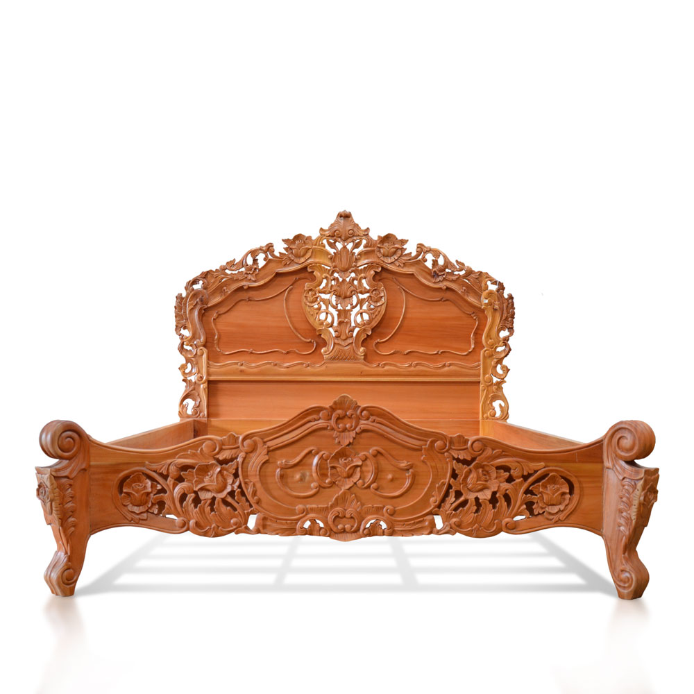 French Rococo Bed Frame French Style Bed Frame