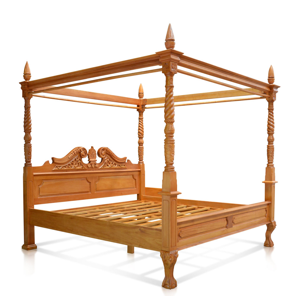 Queen Anne Style Mahogany Four Poster Bedframe Specialising In