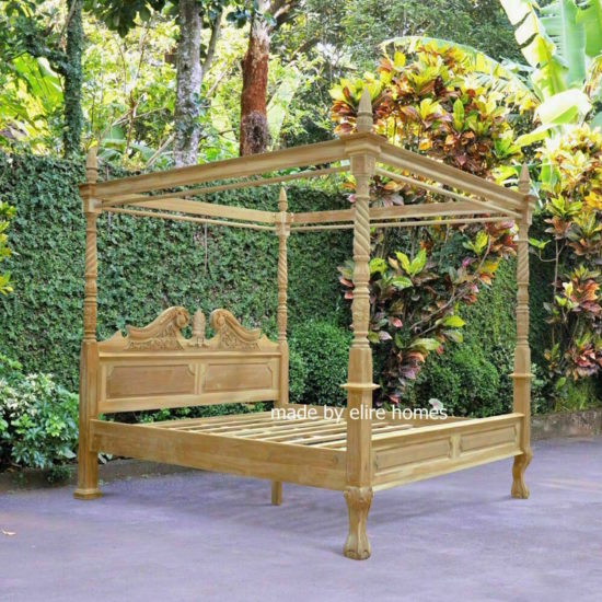 Four Poster Teak Wood Bed 2