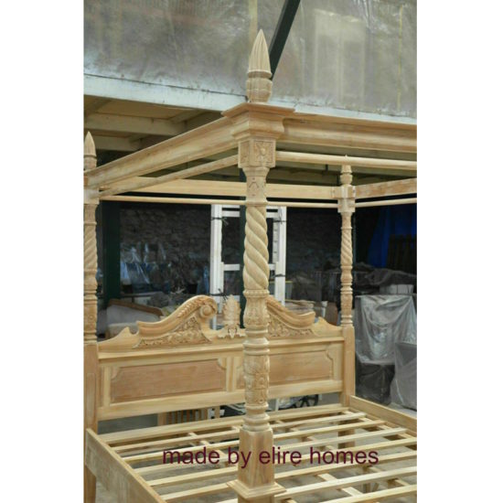 Four Poster Teak Wood Bed 3