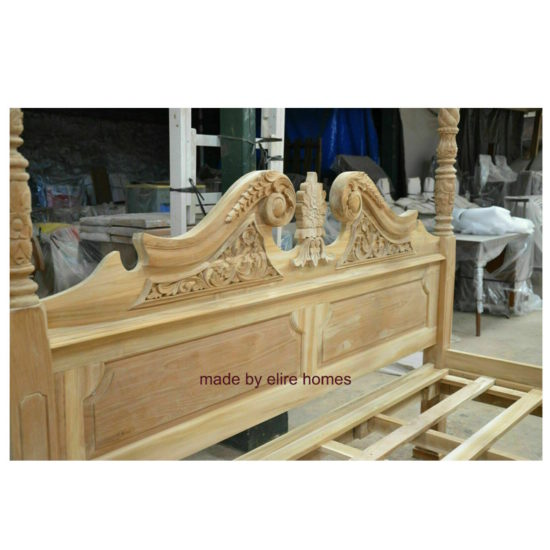 Four Poster Teak Wood Bed 4