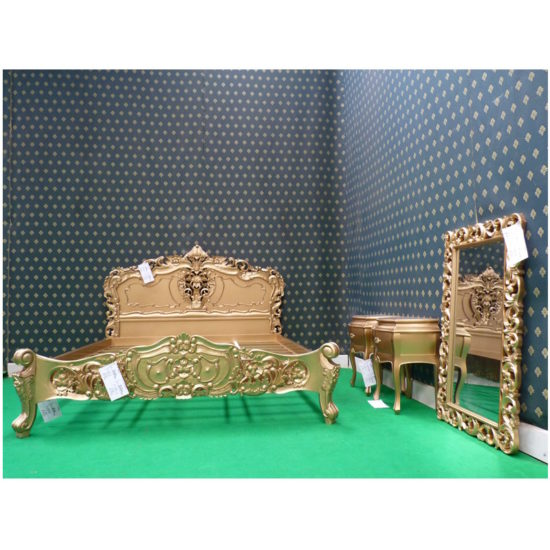 Super King Gold French style Rococo bed 2