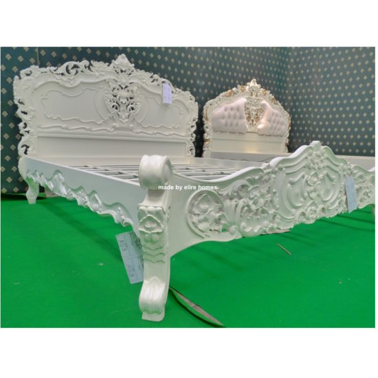 Super King Ivory French style Rococo bed 3