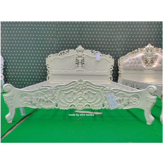 Super King Ivory French style Rococo bed 1
