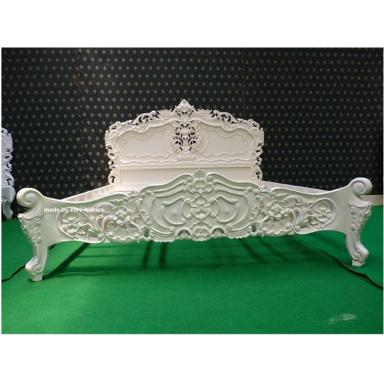 Super King Ivory French style Rococo bed 4