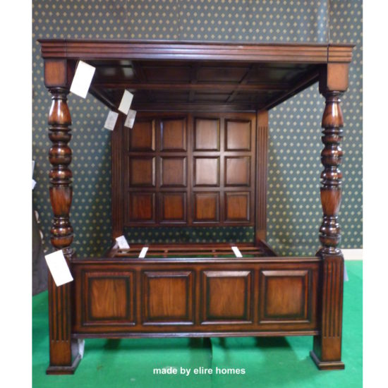 USA and UK stock Super King Four Poster jacobean bed 1