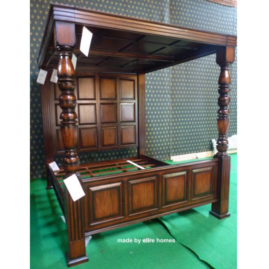 USA and UK stock Super King Four Poster jacobean bed 6